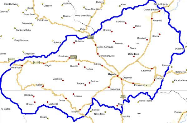 Geografski Polozhaј Opshtine Boјnik Opshtina Boјnik
